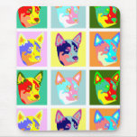 Pop Art Australian Cattle Dog Mouse Pad