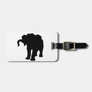Pop Art Baby Elephant Silhouette Luggage Tag