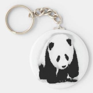 Pop Art Baby Panda Basic Round Button Key Ring