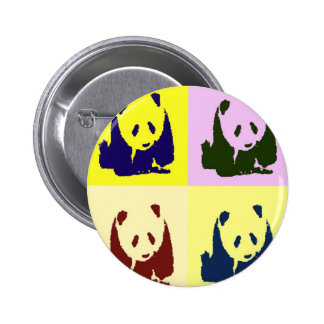 Pop Art Baby Pandas 6 Cm Round Badge