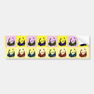 Pop Art Baby Pandas Bumper Sticker
