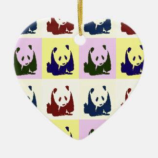 Pop Art Baby Pandas Ornament