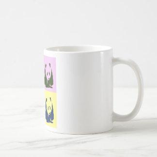 Pop Art Baby Pandas Basic White Mug