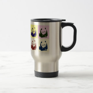 Pop Art Baby Pandas Stainless Steel Travel Mug