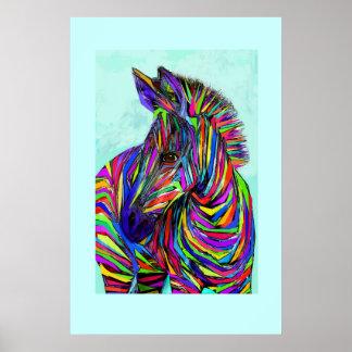 pop art baby zebra poster