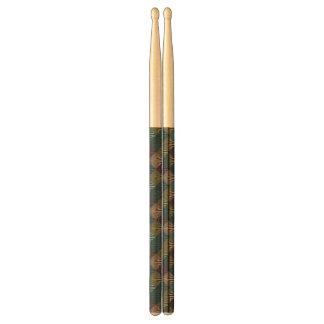 Pop art background drumsticks