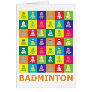 Pop Art Badminton Card