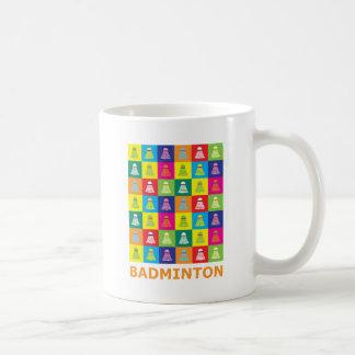 Pop Art Badminton Coffee Mug