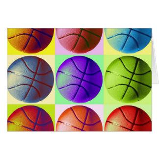 Pop Art Basketball Greeting Cards