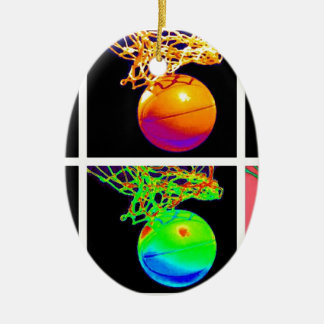 Pop Art Basketball Christmas Ornament