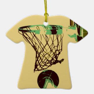 Pop Art Basketball Christmas Tree Ornament