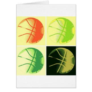 Pop Art Basketball Greeting Card