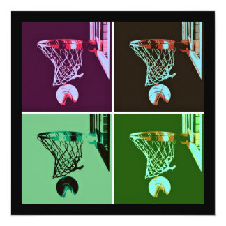 Pop Art Basketball Invitation
