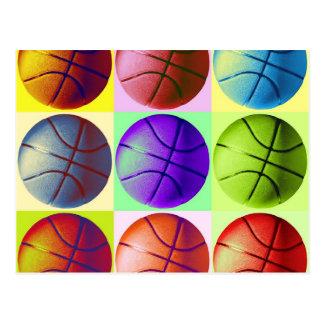 Pop Art Basketball Postcard