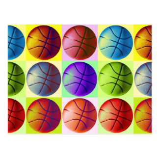 Pop Art Basketball Postcards