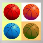 Pop Art Basketball Poster