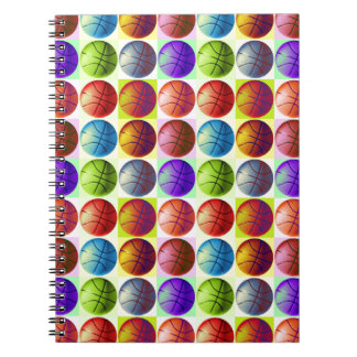 Pop Art Basketball Spiral Notebook