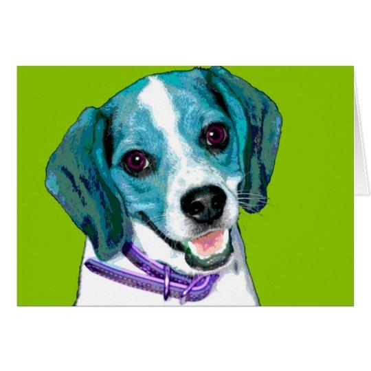 POP ART Beagle Puppy Card