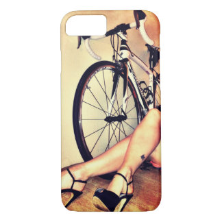 Pop art Bicycle, legs and high heels art iPhone 7 Case