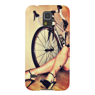 Pop art bicycle, legs and high heels Samsung Case For Galaxy S5