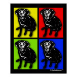 Pop Art Black Labrador Retriever
