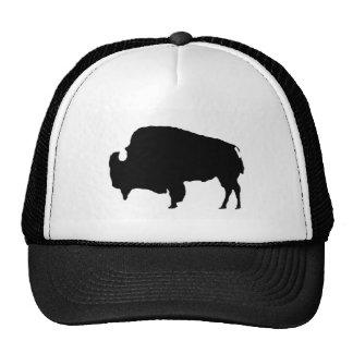 Pop Art Black & White Buffalo Silhouette Hat