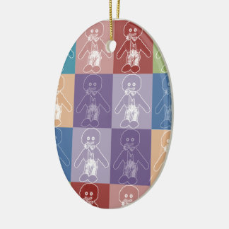 Pop Art Blocked Golly Christmas Ornament