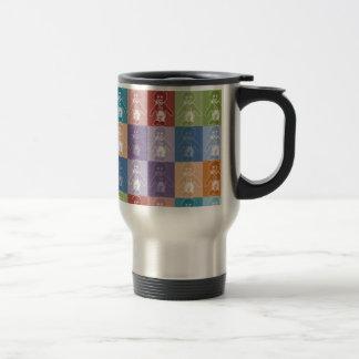 Pop Art Blocked Golly Travel Mug