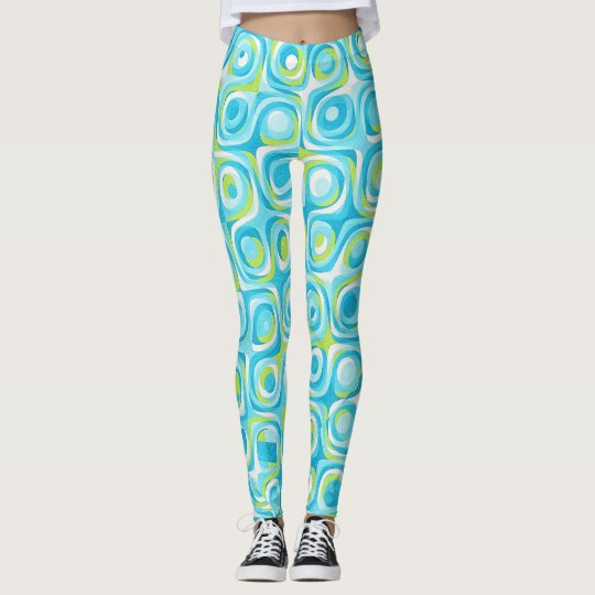 Pop Art Blue-Green retro Leggings