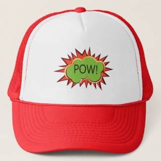 Pop art boom explosion typography trucker hat