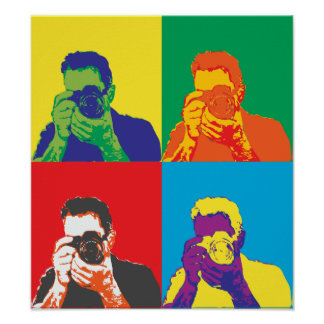 Pop Art Bright Colours Photographer Camera Decor