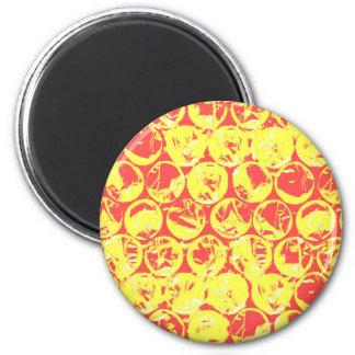 Pop art bubble wrap 6 cm round magnet