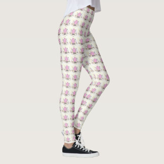 Pop Art Bunny Silhouttes Leggings