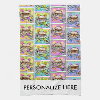 POP ART BURGER (Hamburger) Hand Towel