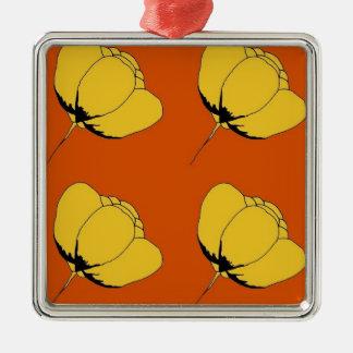 Pop art buttercup christmas ornament