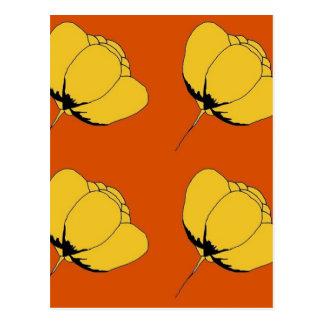 Pop art buttercup postcard