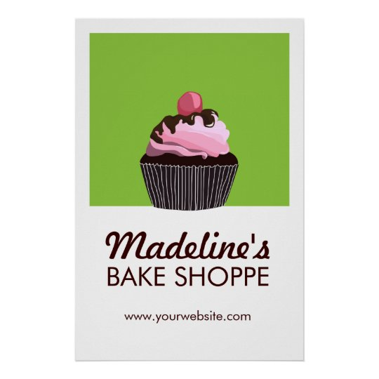 Pop Art Cake Custom Bakery Business Poster