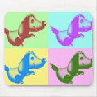 Pop Art Cartoon Dog Mouse Pad