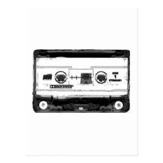 Pop Art Cassette Postcard