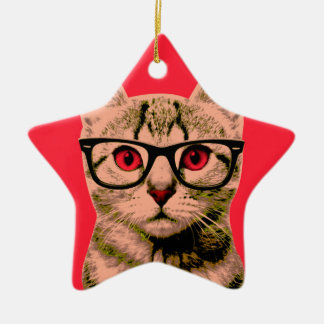 Pop Art Cat Christmas Ornament