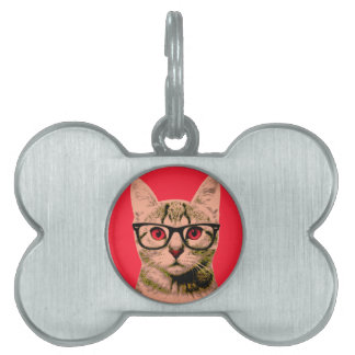 Pop Art Cat Pet Tag