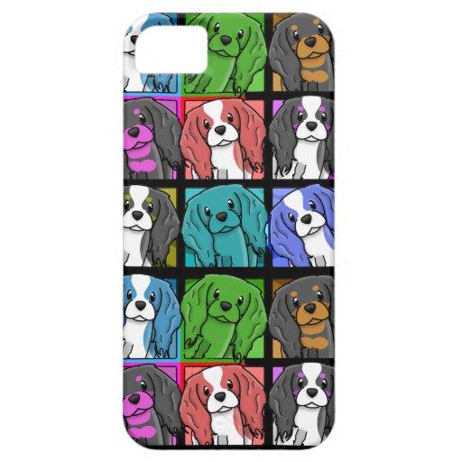 Pop Art Cavalier King Charles Spaniel iPhone 5 Cas iPhone 5 Case