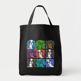 Pop Art Cavalier King Charles Spaniel Tote Bag