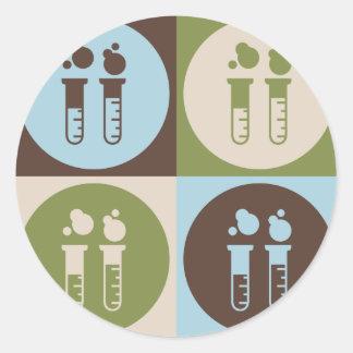 Pop Art Chemistry Round Sticker