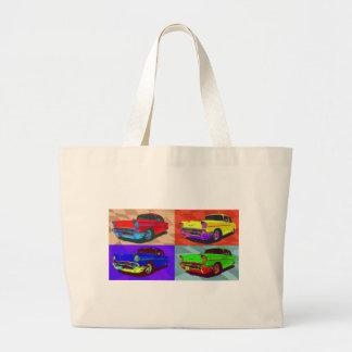 Pop art Chevy Belair illustration Canvas Bag