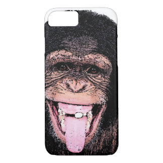 Pop Art Chimpanzee Sticking Tongue Out iPhone 7 Case