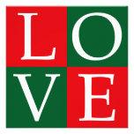 Pop Art Christmas LOVE Invites