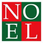 Pop Art Christmas NOEL Personalized Announcements