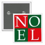 Pop Art Christmas NOEL Pins