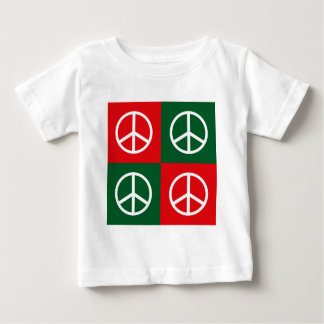 Pop Art Christmas PEACE Baby T-Shirt